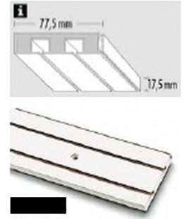 Sina Perdea PVC alba cu 2 canale! 250 cm!