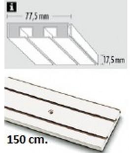 Sina Perdea PVC alba cu 2 canale! 150 cm!