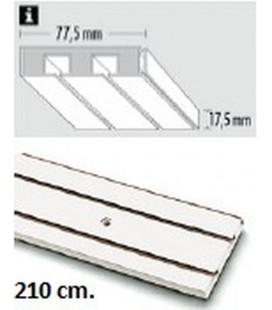 Sina Perdea PVC alba cu 2 canale! 210 cm!