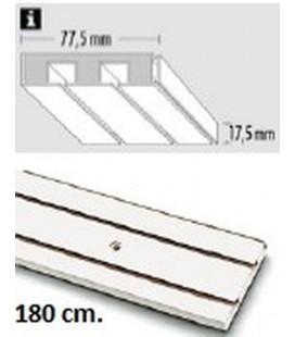Sina Perdea PVC alba cu 2 canale! 180 cm!